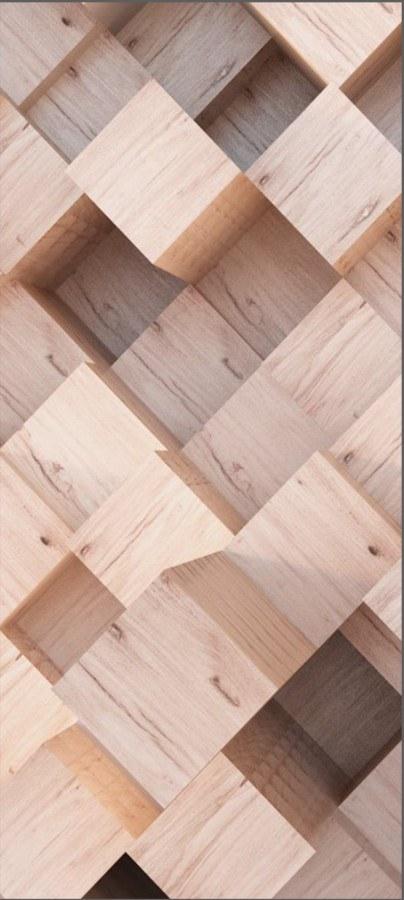 Fototapeta 3D Dřevěné kostky FTNV-2931, 90x202 cm - Fototapety vliesové