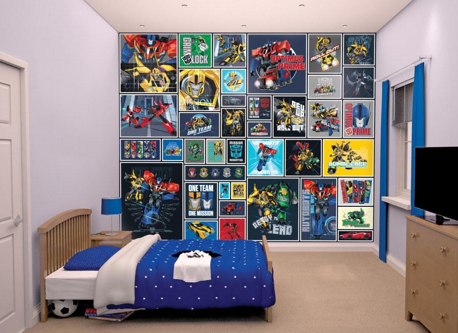 Fototapeta 3D Walltastic Transformers Robots 43831, 305 x 244 cm - Rozměr 244 x 305 cm