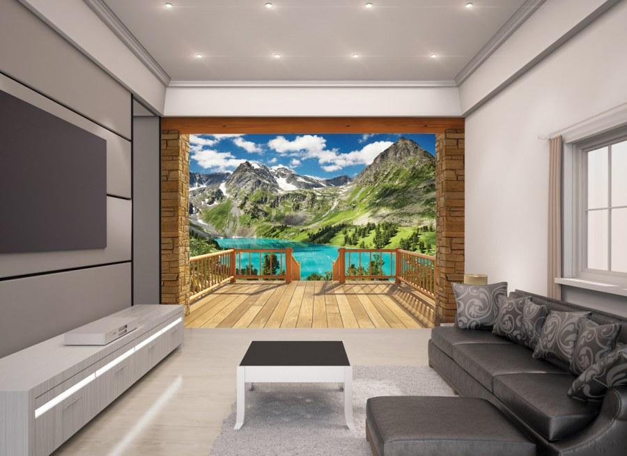Fototapeta 3D Alpy 43619, 305 x 244 cm - Fototapety papírové