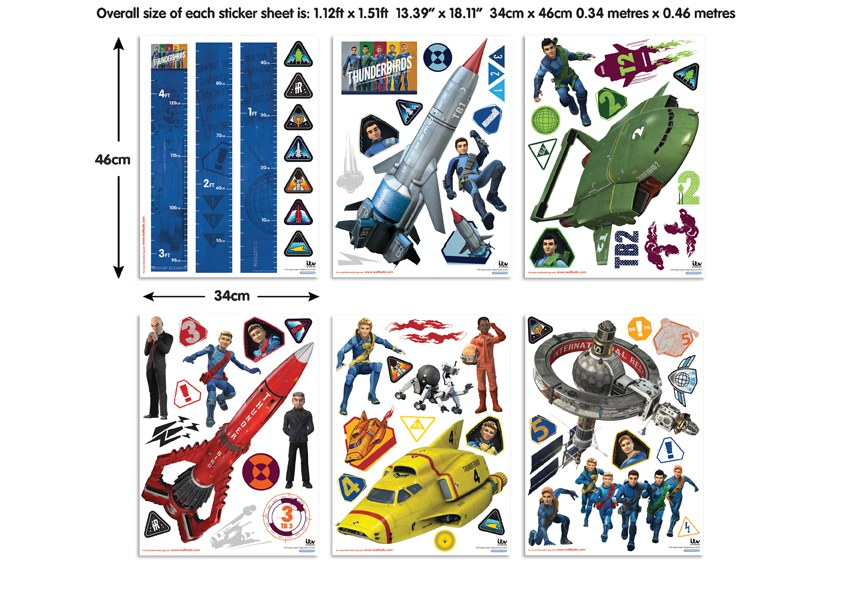 Samolepicí dekorace Walltastic Thunderbirds 43749 - Dekorace ostatní