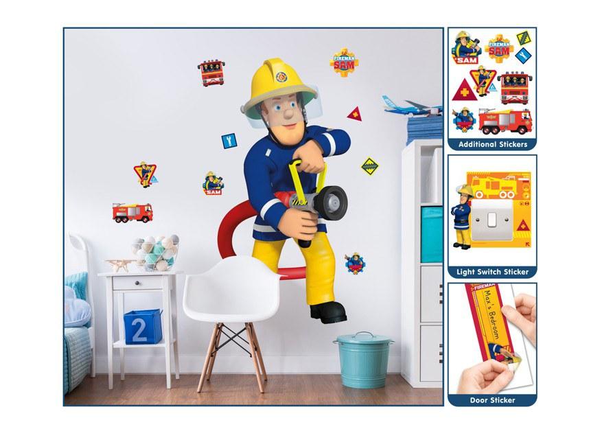 Samolepicí dekorace Walltastic Požárník Sam 44333 - Dekorace Požárník Sam