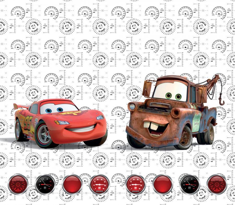 Fotozávěs Cars FCSXL-4368, 180 x 160 cm - Závěsy do dětského pokoje