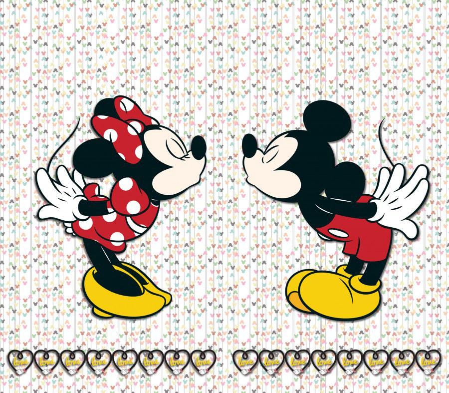 Fotozávěs Mickey & Minnie FCSXL-4371, 180 x 160 cm - Závěsy do dětského pokoje