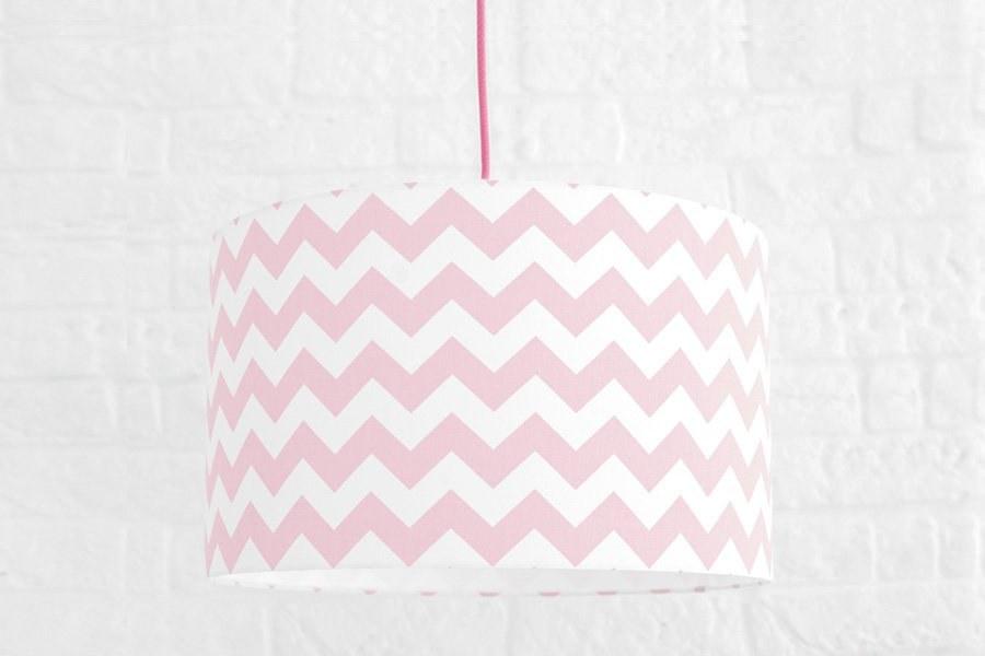 Textilní závěsná lampa Cik Cak - růžová - Akce