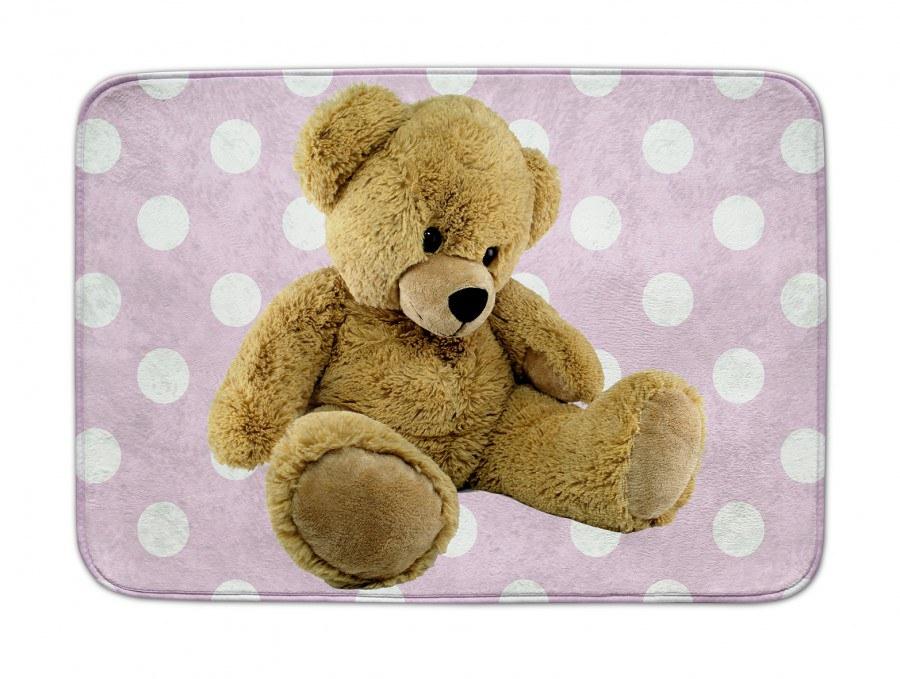 Dětský koberec Ultra Soft Medvědi růžový 05, 70 x 100 cm - Dětské koberce