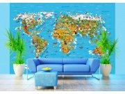 Fototapeta Mapa Světa FTS-1320, rozměry 360 x 254 cm Fototapety skladem