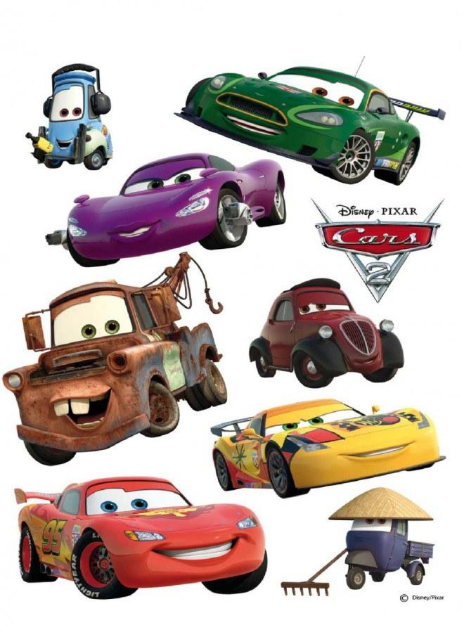 Maxi nálepka Cars a přátelé AG Design DK-0887, rozměry 85 x 65 cm - Dekorace Cars