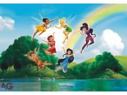 Fototapeta Fairies with rainbow FTDXXL-0259, rozměry 360 x 255 cm Fototapety pro děti - Rozměr 360 x 255 cm