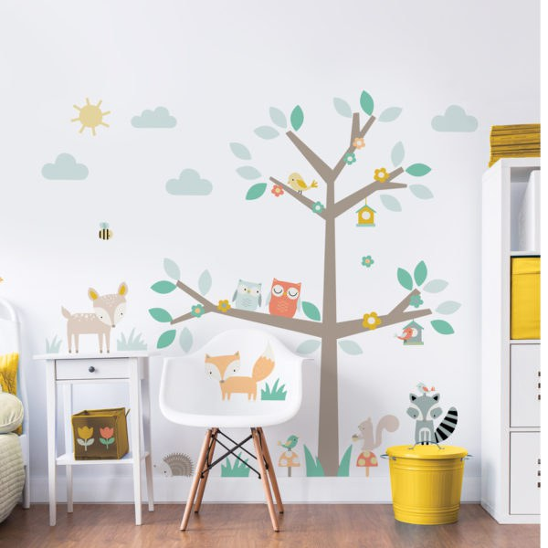 Samolepicí dekorace Walltastic Barevný strom 44647 - Dekorace ostatní