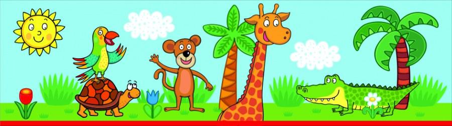 Samolepicí bordura Žirafa WBD8102 - Dekorace ostatní