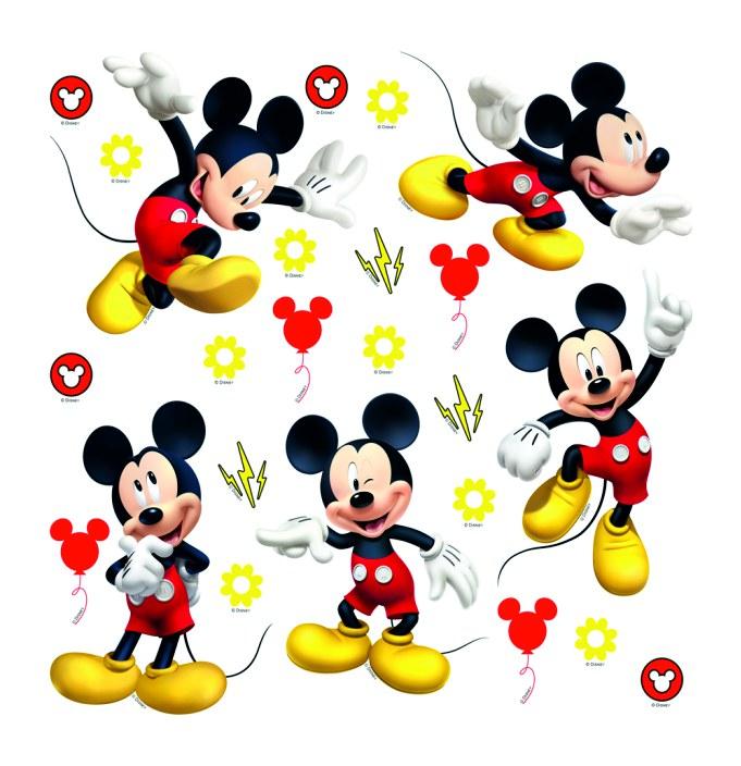 Samolepicí dekorace Mickey Mouse DKS-3802, 30x30 cm - Dekorace Mickey Mouse