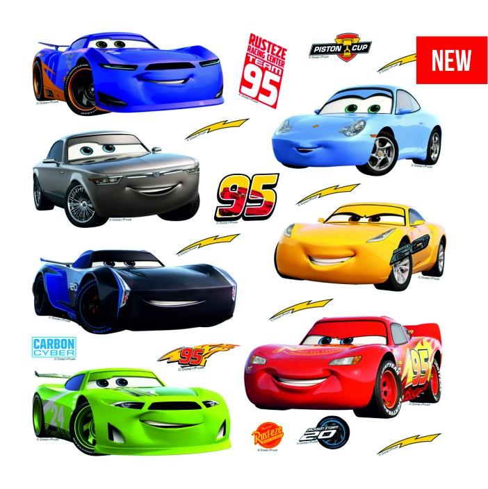 Samolepicí dekorace Cars DKS-3803, 30x30 cm - Dekorace Cars
