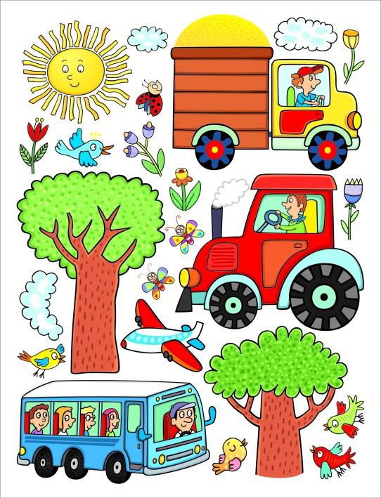 Samolepicí dekorace Traktor DK-2314, 85x65 cm - Dekorace ostatní