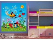Vliesová fototapeta Krtek a vrtulník FTDNXL-5145, 180 x 202 cm Fototapety pro děti - Fototapety dětské vliesové