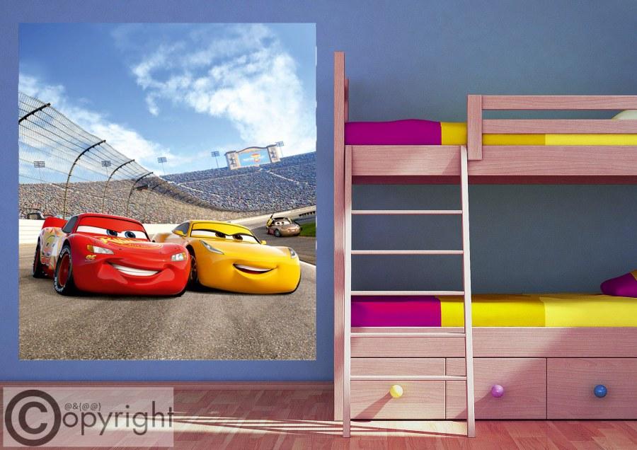 Vliesová fototapeta Cars FTDNXL-5147, 180 x 202 cm - Fototapety dětské vliesové