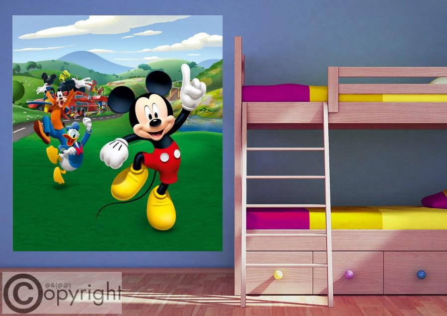 Vliesová fototapeta Mickey Mouse FTDNXL-5148, 180 x 202 cm - Fototapety dětské vliesové