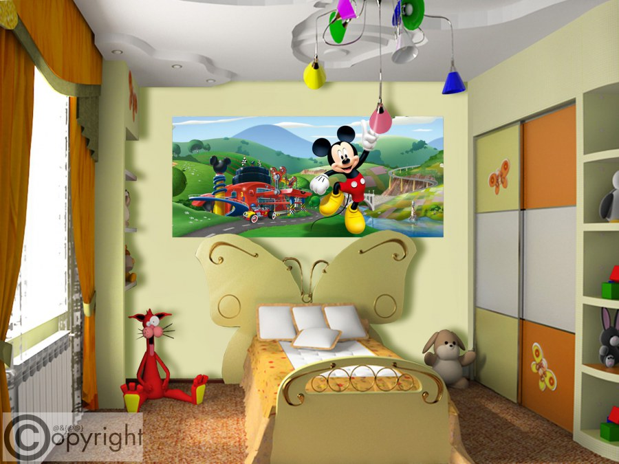 Fototapeta vliesová Mickey Mouse FTDNH-5375, 202x90 cm - Fototapety dětské vliesové