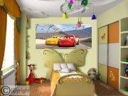 Fototapeta vliesová Cars FTDNH-5377, 202x90 cm Fototapety pro děti - Fototapety dětské vliesové