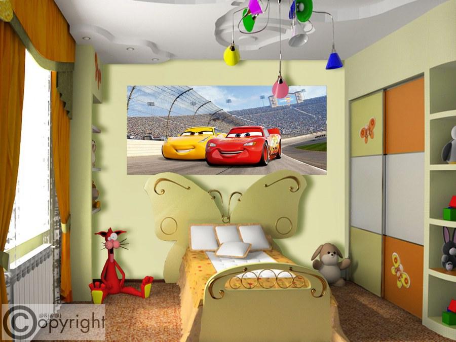 Fototapeta vliesová Cars FTDNH-5377, 202x90 cm - Fototapety dětské vliesové