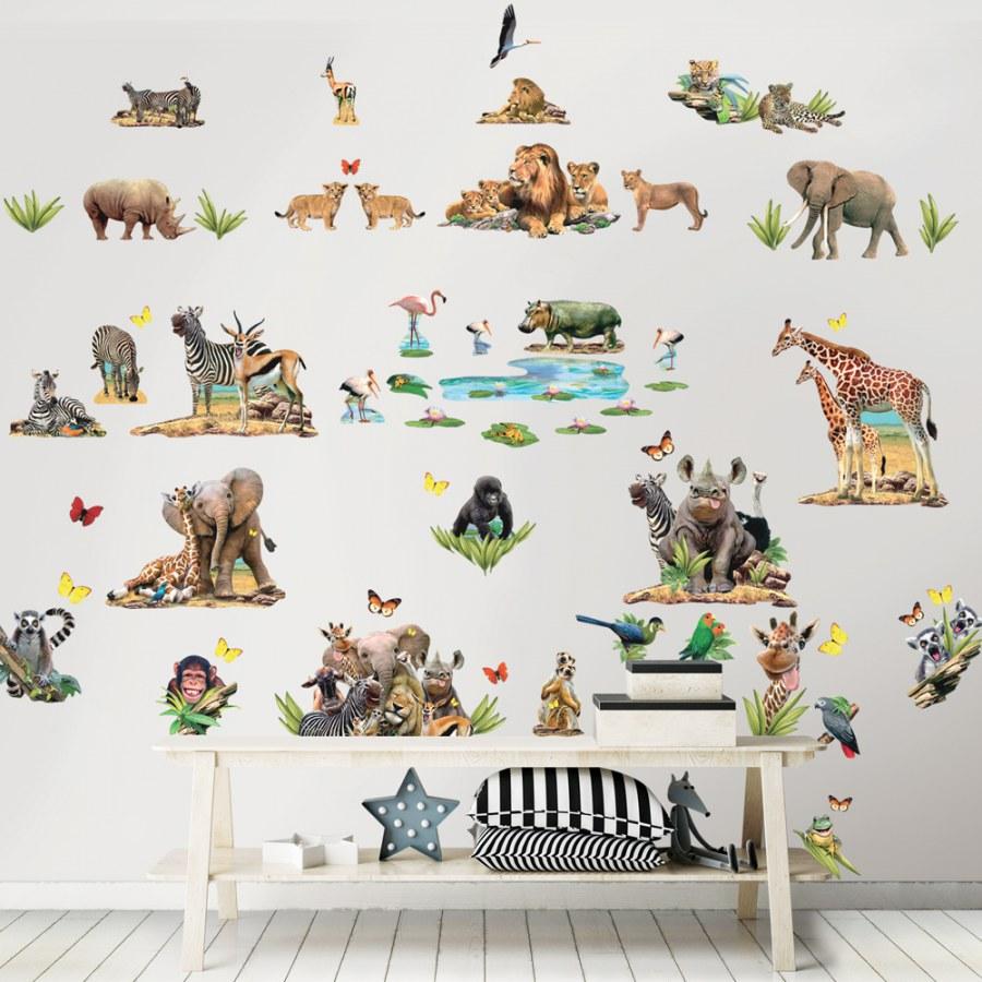 Samolepící dekorace Walltastic Safari 45439 - Dekorace ostatní