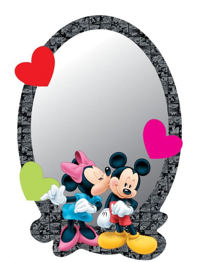 Zrcátko Minnie a Mickey DM2108 - rozměry 15 x 21,5 cm - Dekorace Mickey Mouse