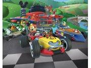 Fototapeta 3D Micke Mouse závody Walltastic 41813 | 305 x 244 cm Fototapety pro děti - Rozměr 244 x 305 cm