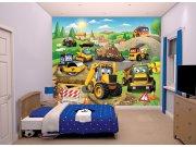 Fototapeta 3D moje první JCB Walltastic 43787, 305 x 244 cm Fototapety pro děti - Rozměr 244 x 305 cm