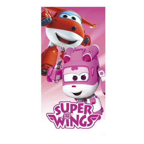 Osuška Super Wings pink 70/140 - plážové osušky