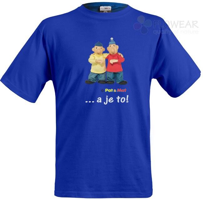 Tričko Pat a Mat royal modré, velikost L - Pánské trička