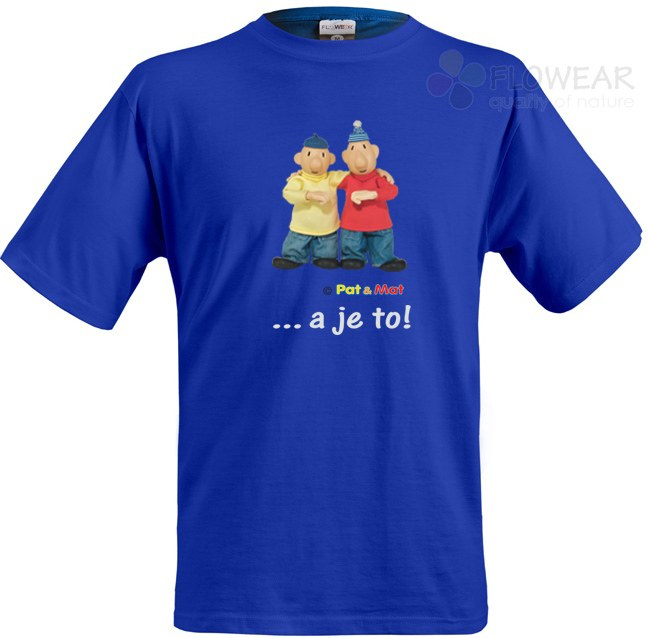 Tričko dětské Pat a Mat royal modré, velikost 122 - Dětské trička