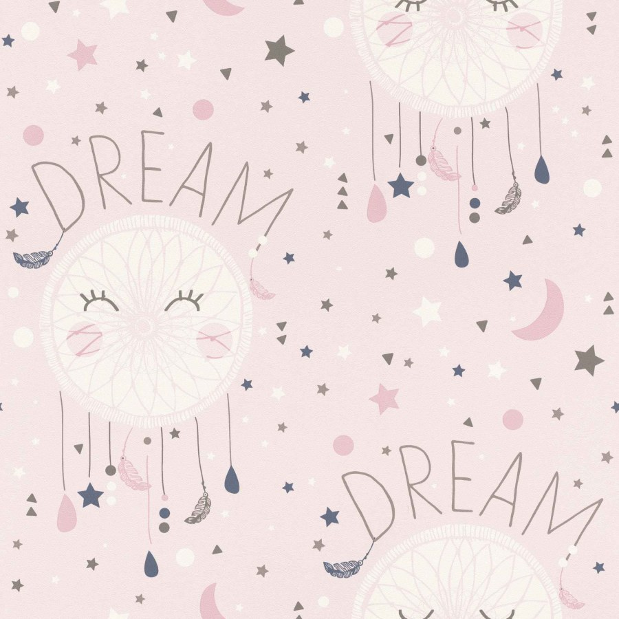 Papírová tapeta do pokojíčku růžové hvězdičky Bambino 248753 - Tapety Bambino