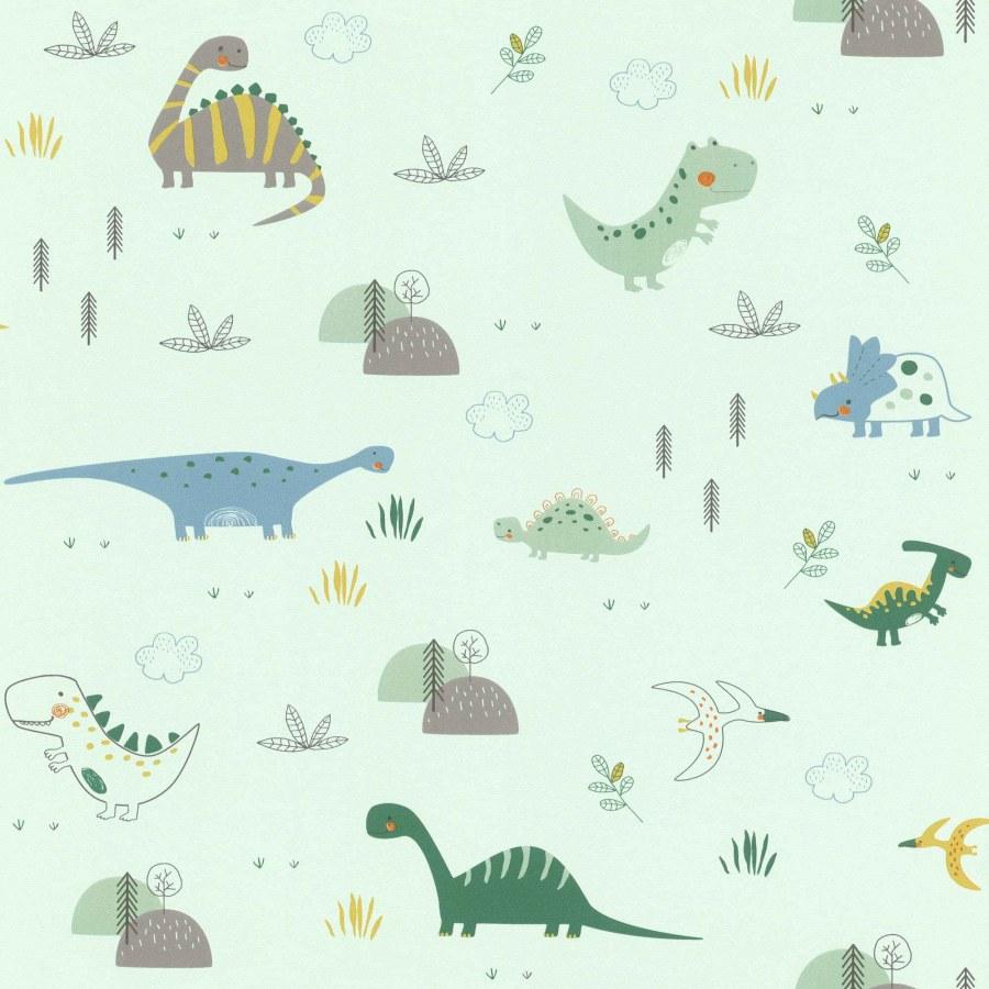 Papírová tapeta do pokojíčku zvířátka z pravěku Bambino 249330 - Tapety Bambino