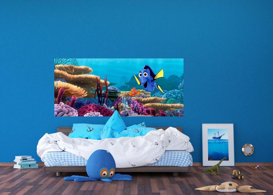 Fototapeta vliesová Disney Dory a Nemo FTDNH-5379 | 202x90 cm - Fototapety dětské vliesové