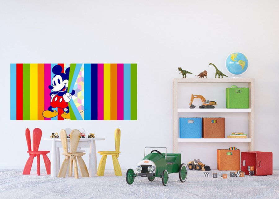 Fototapeta vliesová Duhový Mickey Mouse FTDNH-5380 | 202x90 cm - Fototapety dětské vliesové