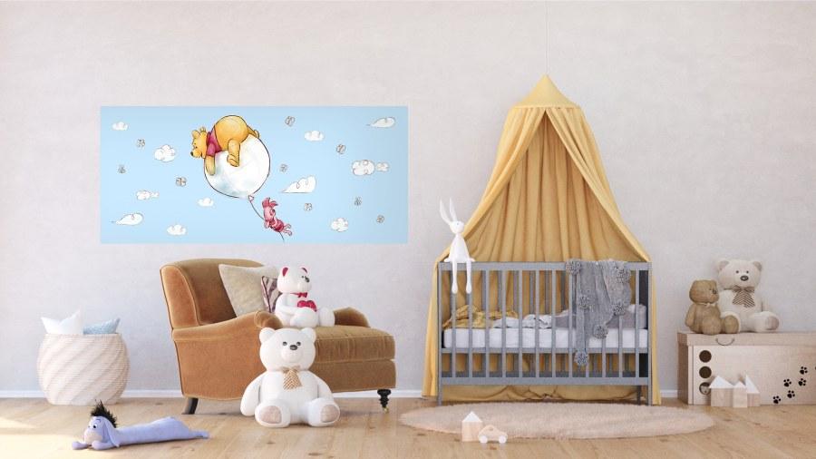 Fototapeta vliesová Kreslený Medvídek Pú FTDNH-5381 | 202x90 cm - Fototapety dětské vliesové