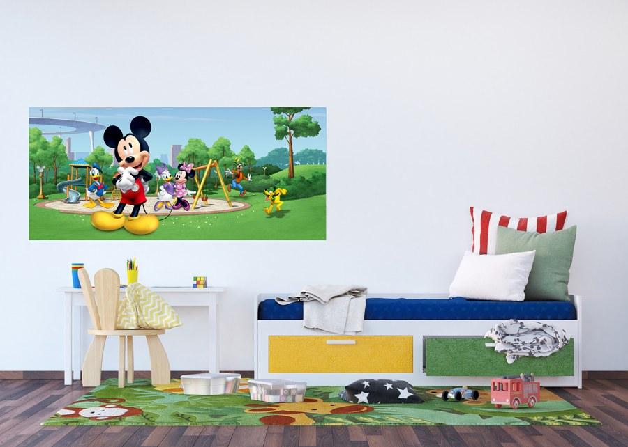Fototapeta vliesová Mickey Mouse v parku FTDNH-5382 | 202x90 cm - Fototapety dětské vliesové