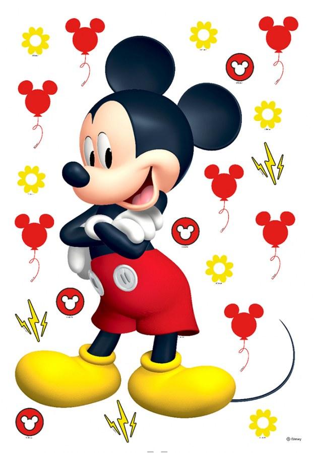 Samolepicí dekorace Mickey Mouse DK-1725, rozměry 42,5 x 65 cm - Dekorace Medvědi