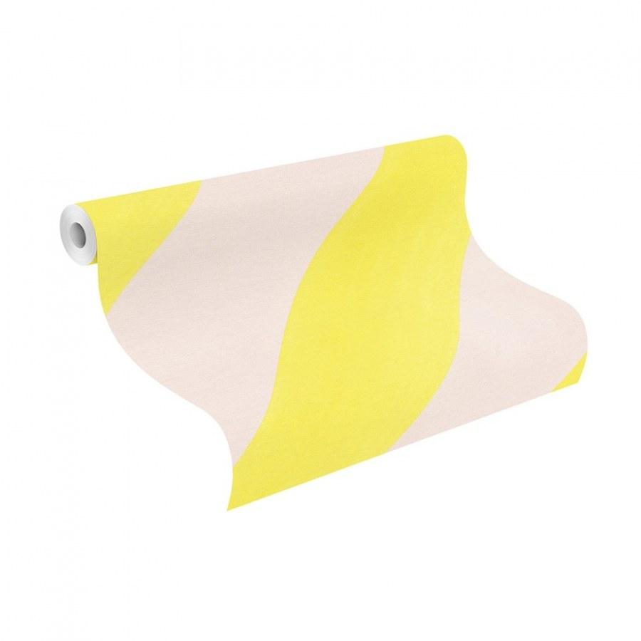 Vliesová tapeta do pokojíčku Žluté šikmé pruhy Bambino 531619, lepidlo zdarma - Tapety Bambino