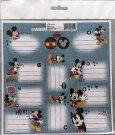BENIAMIN Samolepící jmenovky Mickey Papír, 20x20 cm Do školy a školky - jmenovky na sešity