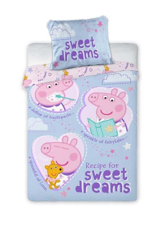 Povlečení do postýlky Peppa Pig sladké sny 100/135, 40/60 - Povlečení do postýlky