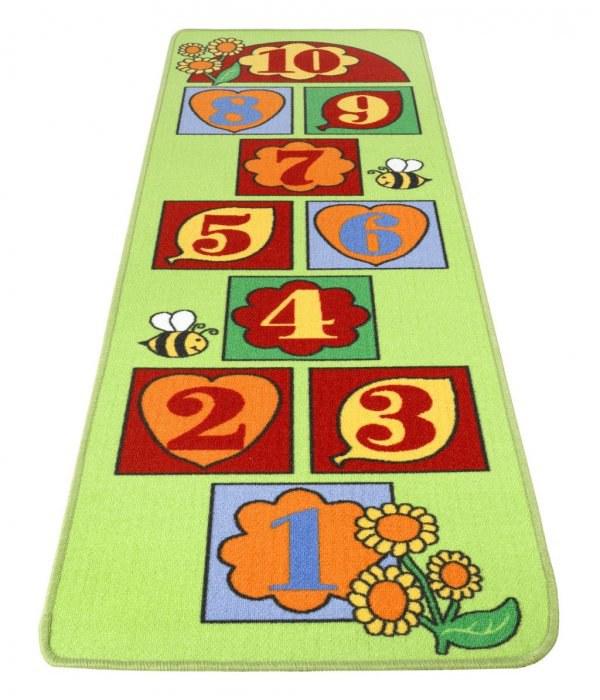 Dětský koberec skákací panák zelený, 67 x 200 cm - Dětské koberce