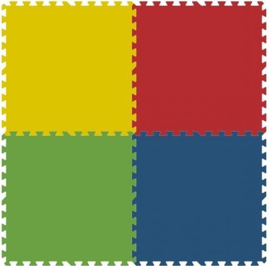 Podlahové pěnové puzzle koberec 4 velké dílky 8 mm, rozměry 121 x 121 cm - Dětské koberce