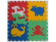 Pěnové puzzle koberec Zvířátka I 8 mm, rozměry 61 x 61 cm Dětské koberce