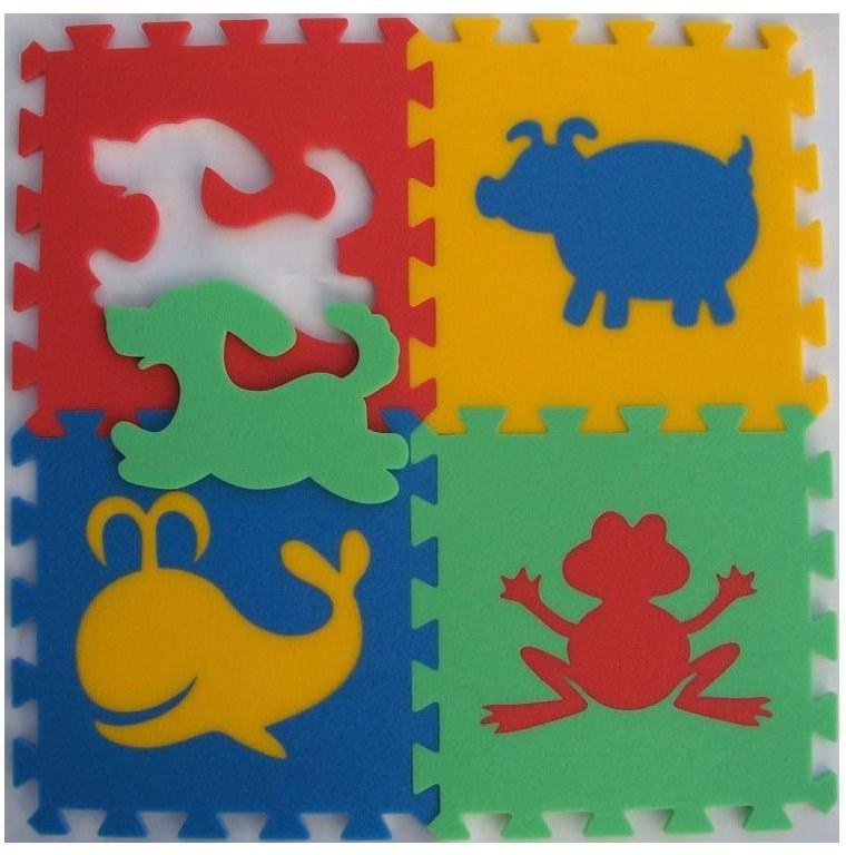 Pěnové puzzle koberec Zvířátka I 8 mm, rozměry 61 x 61 cm - Dětské koberce