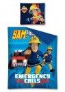 DETEXPOL Povlečení Požárník Sam Emergency Bavlna, 140/200, cm Povlečení licenční