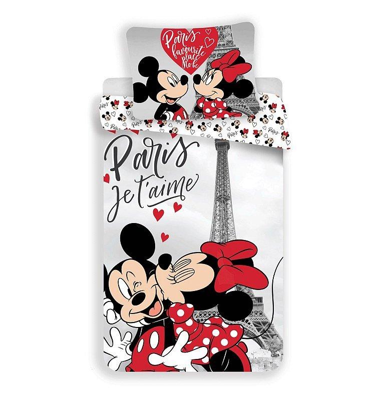 Povlečení Mickey a Minnie Paříž Eiffelova věž 140/200, 70/90 - Povlečení licenční