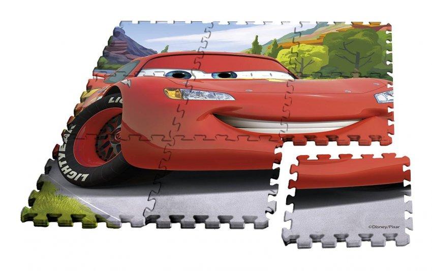EUROSWAN Podlahové pěnové puzzle Cars Eva, 9 dílu - puzzle, hry