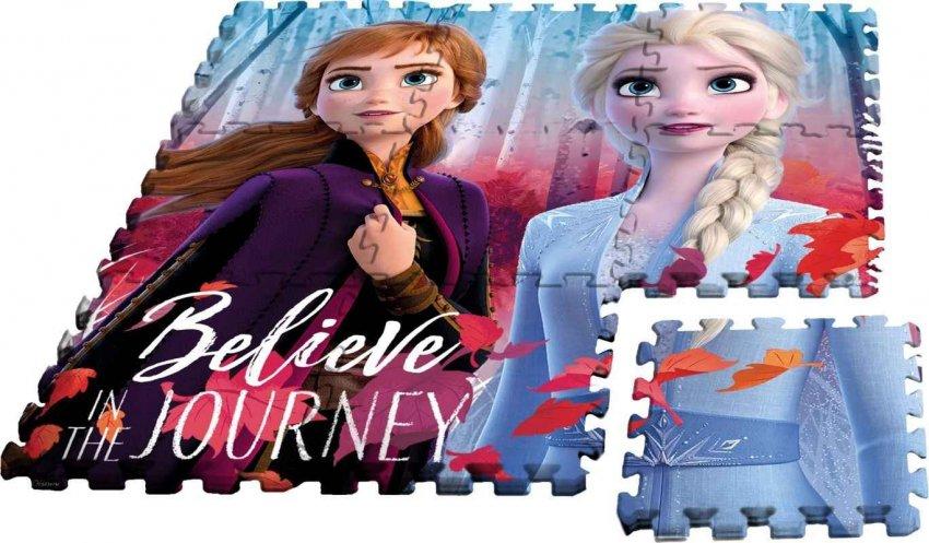 EUROSWAN Podlahové pěnové puzzle Ledové Království 2 Eva,9 dílů cm - puzzle, hry