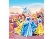 Vliesová fototapeta Princezny u zámku FTDNXL-5113, rozměry 180 x 202 cm Fototapety pro děti - Fototapety dětské vliesové