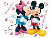 Samolepka Mickey a Minnie Love AG Design DK-1753, rozměry 42,5 x 65 cm Dekorace Mickey Mouse